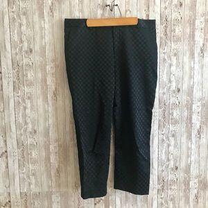 Banana Republic navy Hampton patterned pants